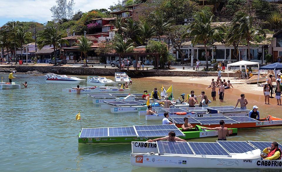 18 barcos movidos à energia solar participam do rali Desafio Solar Brasil 2018